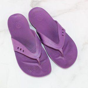 CROCS Bright Purple Flip Flop Sandals sz 10